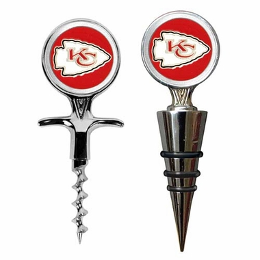 Kansas City Chiefs Corkscrew and Stopper Gift Set