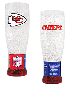Kansas City Chiefs Crystal Pilsner Glass