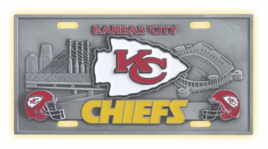 Kansas City Chiefs Deluxe Collector's License Plate