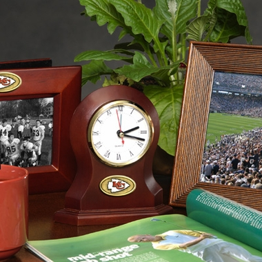 Kansas City Chiefs Desk Clock