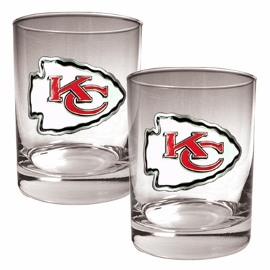 Kansas City Chiefs Double Rocks Set