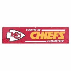 Kansas City Chiefs Eight Foot Banner