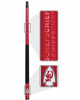 Kansas City Chiefs Eliminator Pool Cue