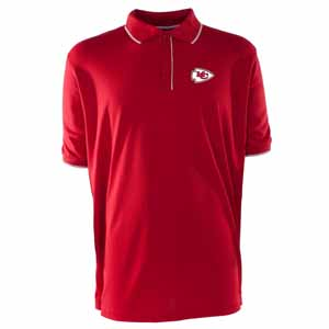 Kansas City Chiefs Mens Elite Polo Shirt (Team Color: Red) - Small