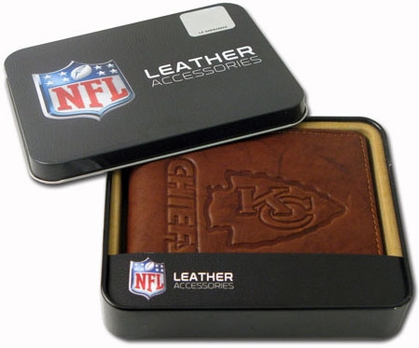 Kansas City Chiefs Embossed Leather Bifold Wallet