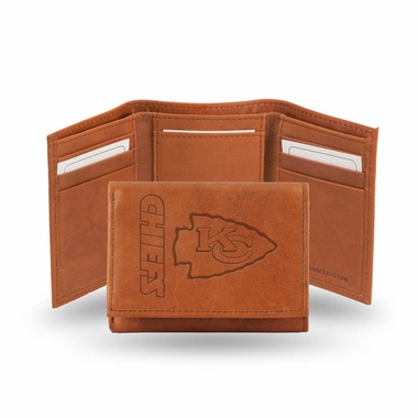 Kansas City Chiefs Embossed Leather Trifold Wallet