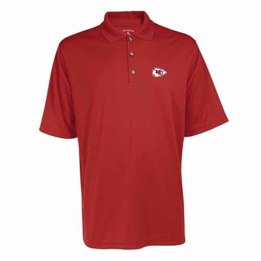 Kansas City Chiefs Mens Exceed Polo (Team Color: Red)
