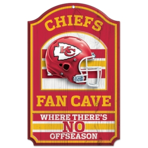 Kansas City Chiefs Fan Cave Wood Sign