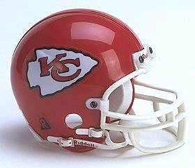 Kansas City Chiefs Replica Mini Helmet w/ Z2B Face Mask