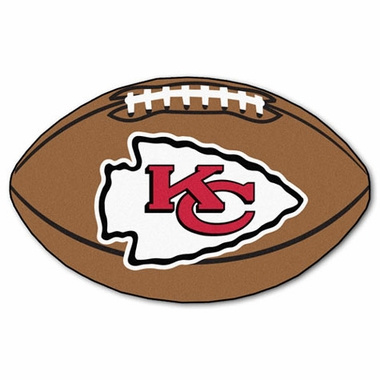 Kansas City Chiefs Football Shaped Rug