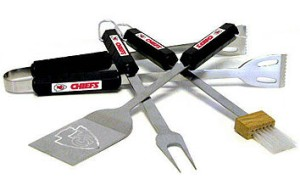 Kansas City Chiefs Grill BBQ Utensil Set
