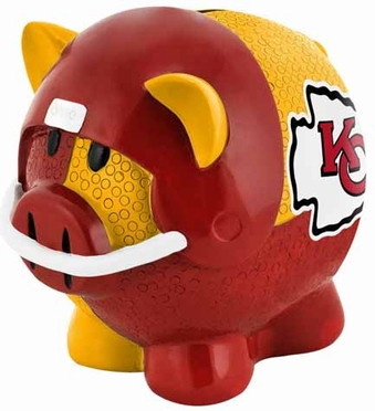 Kansas City Chiefs Large Thematic Piggy Bank