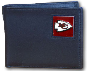 Kansas City Chiefs Leather Bifold Wallet (F)