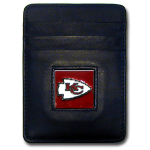Kansas City Chiefs Leather Money Clip (F)