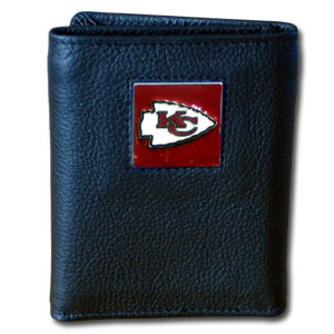 Kansas City Chiefs Leather Trifold Wallet (F)