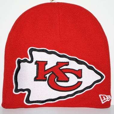 Kansas City Chiefs New Era Big One Too Cuffless Knit Hat