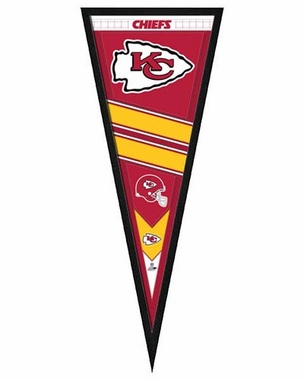"Kansas City Chiefs Pennant Frame - 13""x33"" (No Glass)"