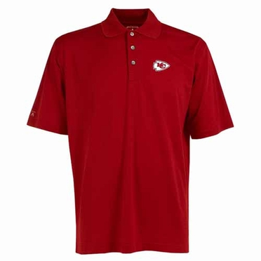 Kansas City Chiefs Mens Phoenix Waffle Weave Polo (Team Color: Red)