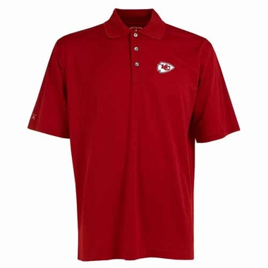 Kansas City Chiefs Mens Phoenix Waffle Weave Polo (Color: Red)