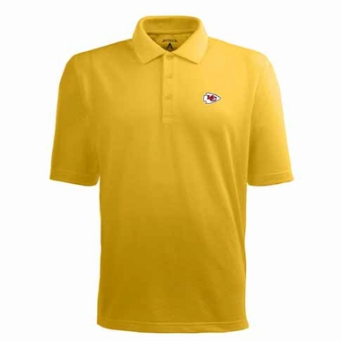 Kansas City Chiefs Mens Pique Xtra Lite Polo Shirt (Color: Gold)