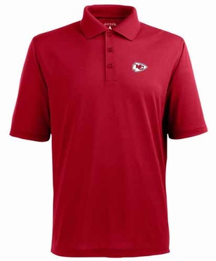 Kansas City Chiefs Mens Pique Xtra Lite Polo Shirt (Team Color: Red)