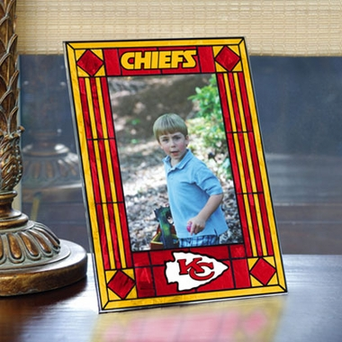 Kansas City Chiefs Portrait Art Glass Picture Frame