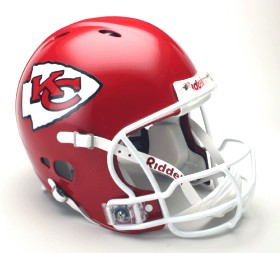 Kansas City Chiefs Riddell Full Size Authentic Revolution Helmet