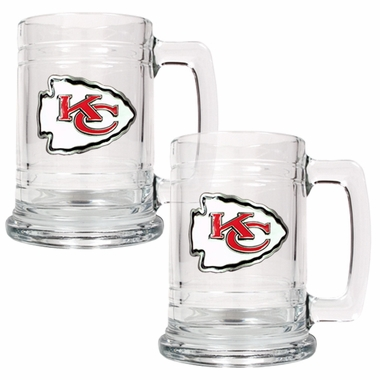 Kansas City Chiefs Set of 2 15 oz. Tankards