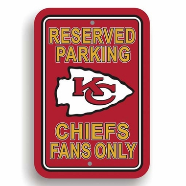 Kansas City Chiefs Plastic Reserved Parking Sign (P)