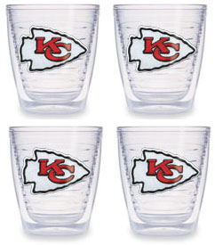 Kansas City Chiefs Set of FOUR 12 oz. Tervis Tumblers