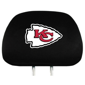 Kansas City Chiefs Set of Headrest Covers