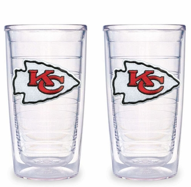 Kansas City Chiefs Set of TWO 16 oz. Tervis Tumblers