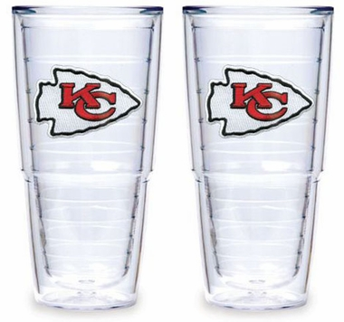 "Kansas City Chiefs Set of TWO 24 oz. ""Big T"" Tervis Tumblers"