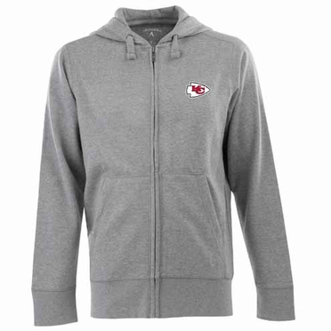 Kansas City Chiefs Mens Signature Full Zip Hooded Sweatshirt (Color: Gray)