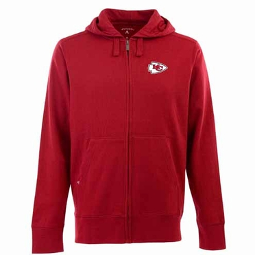 Kansas City Chiefs Mens Signature Full Zip Hooded Sweatshirt (Team Color: Red)