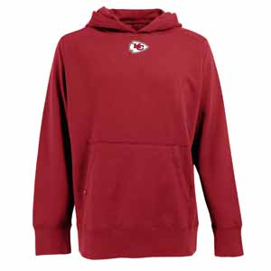 Kansas City Chiefs Mens Signature Hooded Sweatshirt (Team Color: Red) - Large