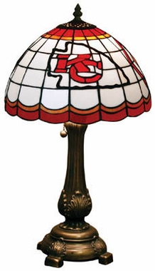 Kansas City Chiefs Stained Glass Table Lamp