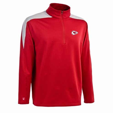 Kansas City Chiefs Mens Succeed 1/4 Zip Performance Pullover (Team Color: Red)