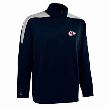 Kansas City Chiefs Mens Succeed 1/4 Zip Performance Pullover (Color: Smoke)