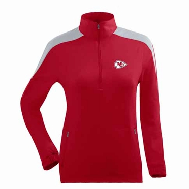 Kansas City Chiefs Womens Succeed 1/4 Zip Performance Pullover (Team Color: Red)