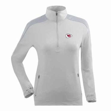 Kansas City Chiefs Womens Succeed 1/4 Zip Performance Pullover (Color: White)