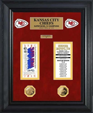 Kansas City Chiefs Kansas City Chiefs Super Bowl Ticket and Game Coin Collection Framed