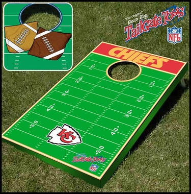 Kansas City Chiefs Tailgate Toss Cornhole Beanbag Game