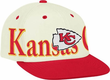 Kansas City Chiefs Team Name and Logo Snapback Hat