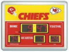 Kansas City Chiefs Time / Date / Temp. Scoreboard