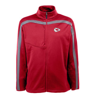 Kansas City Chiefs Mens Viper Full Zip Performance Jacket (Team Color: Red)