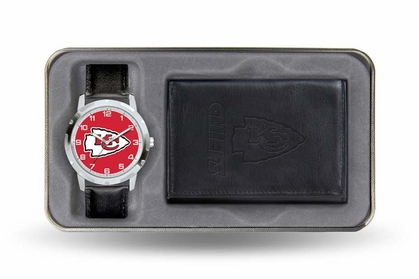 Kansas City Chiefs Watch and Wallet Gift Set