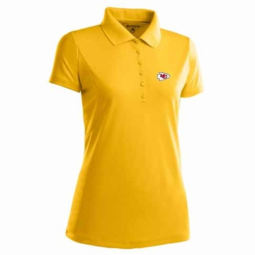Kansas City Chiefs Womens Pique Xtra Lite Polo Shirt (Alternate Color: Gold)