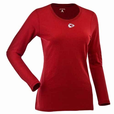 Kansas City Chiefs Womens Relax Long Sleeve Tee (Team Color: Red)