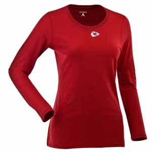 Kansas City Chiefs Womens Relax Long Sleeve Tee (Team Color: Red) - Large